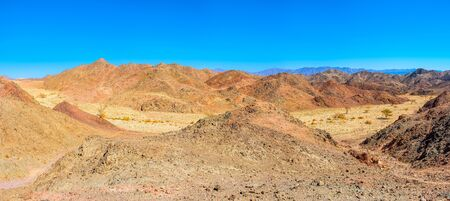 Eilat offers different types of recreation, hiking is one of the popular types in scenic Eilat Mountains, Israel.