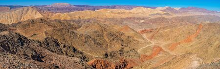 The rocky desert is one of the most colorful places in dry southern district, Eilat, Israel.