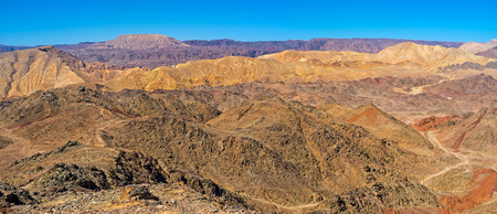 masiv: Zefahot Mount is the best choisy for the easy hike and overlook the unique landscape, Eilat.