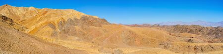 The desert Eilat mountains are popular tourist place with the scenic landscape and unusual color, Israel.