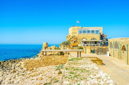 best place: The coast is the best place to enjoy the tasty food and fine views, Caesaria, Israel.