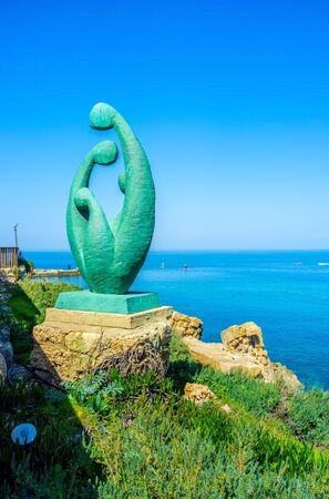 caesarea: The garden sculpture on the coast of the National Park of Caesarea, Israel.