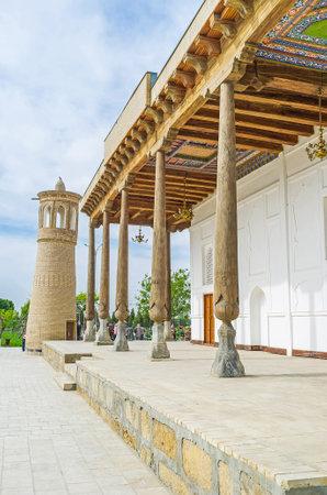 notable: The Khakim Kushbegi Mosque is the notable landmark in Bahauddin Nakshbandi complex, Bukhara, Uzbekistan.