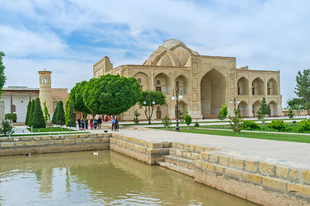 specifically: BUKHARA, UZBEKISTAN - APRIL 29, 2015: The Khanaka of Abd Al-Aziz-Khan was built specifically for gatherings of Sufi dervishes order Nakshbandia, on April 29 in Bukhara.