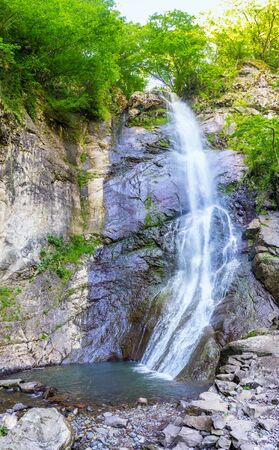 notable: The Mahuntseti waterfall is the notable landmark in Ajara, Mahuntseti village, Georgia.
