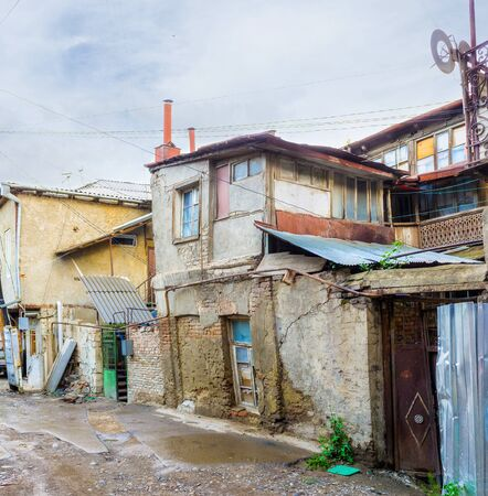 ramshackle: The old neighborhoods with slums are the important sites for the city guests, Tbilisi, Georgia.