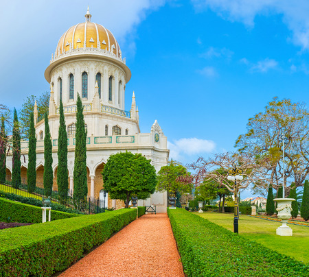bahai: The Bahai Shrine is one of the most famous buildings and locations in Haifa, Israel.