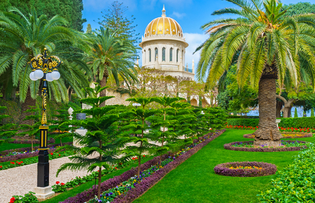 The landscape designers make the Bahai Garden the most beautiful place in Haifa, Israel.