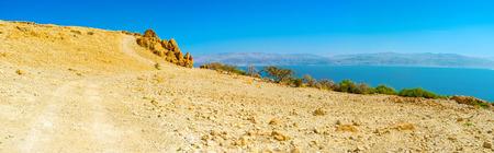 judean desert: The gentle slope in mountains of Judean desert, Ein Gedi, Israel.