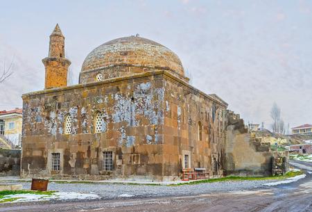 seljuk: The Seljuk Selcuclu Mosque is the pearl of Chardak village in mountains of Cappadocia, Turkey.