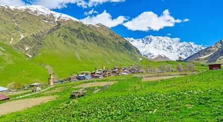 best way: Visiting Ushguli comunity is the best way to get unforgotten experience about life in Caucasus mountains, Svaneti, Georgia.