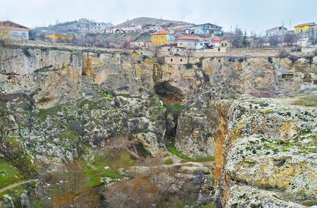 notable: The scenic Ihlara gorge is the notable landmark of Cappadocia, Turkey.