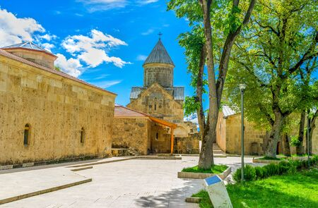 The medieval Haghartsin Monastery was renovated and is open for tourists and pilgrims, Tavush Province, Armenia.
