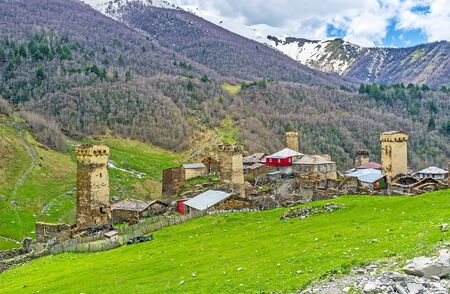 Ushguli community is the most famous landmark of Upper Svaneti and important point in the tourist routes, Georgia.