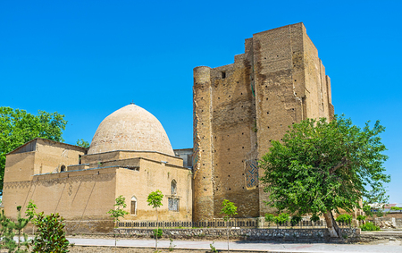 The Dorus-Saodat Mausoleum of Hazrat-i Imam Complex, contains the Tomb of Timur's son, Shakhrisabz, Uzbekistan.