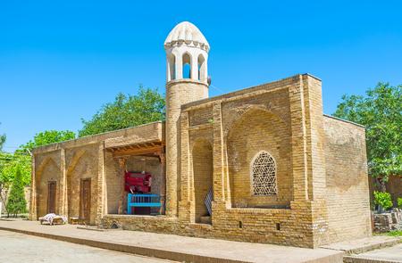 sufi: The small minaret of Mosque of Hazrat Imam Complex, Shakhrisabz, Uzbekistan.