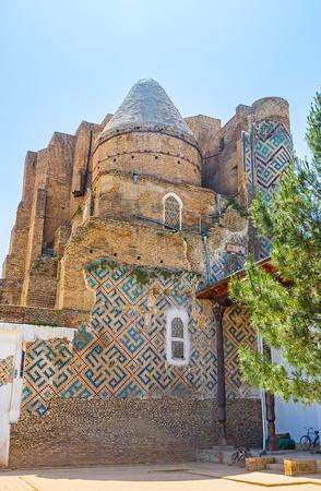 sufi: The ruins of the Dorus-Saodat Mausoleum of  Mirza Jahangir, the oldest son of Amir Timur, Hazrati Imam Complex, Shakhrisabz, Uzbekistan.