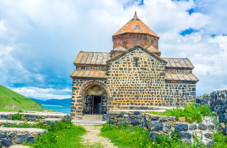 The interesting medieval religious architecture, preserved examples of art and amazing nature of Sevan Lake attracts tourists to Sevanavank Monastery, Armenia.