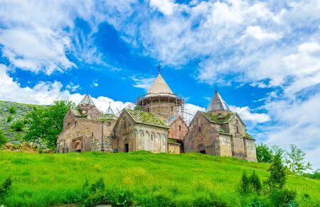 gosh: The Goshavank Monastery, previously known as the Nor Ghetik, located on the green hill in village Gosh, next to Dilijan, Armenia.