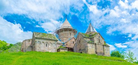 monastic: The Goshavank Monastic complex in village Gosh, serves as the historic landmark, it hasnt any religious functions, Armenia.
