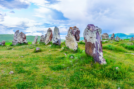 The archaeological site of Zorats Karer is an interesting location, also named by locals as Armenian Stonehenge, Syunik Province, Armenia.