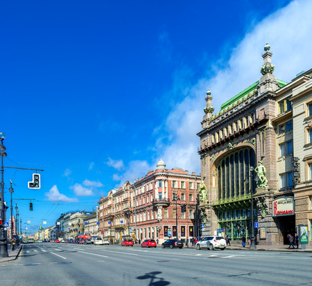 nikolay: SAINT PETERSBURG, RUSSIA - APRIL 25, 2015: The scenic mansion is occupied by Nikolay Akimov Comedy Theatre at Nevsky Prospect, on April 25 in Saint Petersburg.