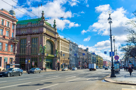 nikolay: SAINT PETERSBURG, RUSSIA - APRIL 25, 2015: The Nikolay Akimov Comedy Theatre located in former merchants mansion at Nevsky Prospect, on April 25 in Saint Petersburg.