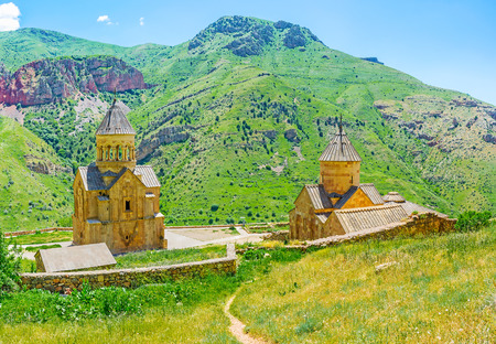 dome of the rock: The Noravank Monastery is the great religious and historic landmark, located on the slope of Amaghu canyon in Vayots Dzor, Armenia.