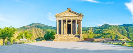 The beautiful Garni Temple is the famous archaeological site, also serving as the neo-pagan shrine, Kotayk Province, Armenia. Editorial
