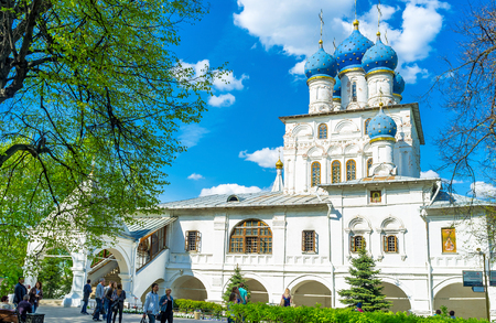 MOSCOW, RUSSIA - MAY 10, 2015: The Church of Kazan icon of Mother of God is one of the old landmarks of Kolomenskoye Manor, on May 10 in Moscow.
