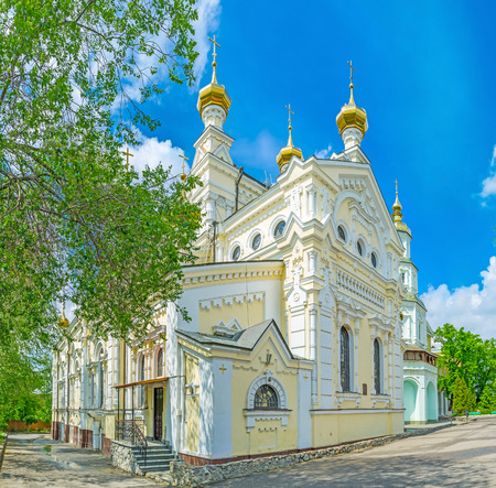 kharkov: The Holy Virgin Monastery is the place of pilgrimage and tourist interest in  Kharkov, Ukraine.