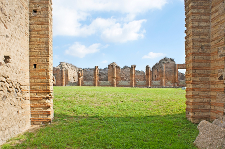 The archaeological site of Pompeii is one of the most popular attractions in Campania, Italy.