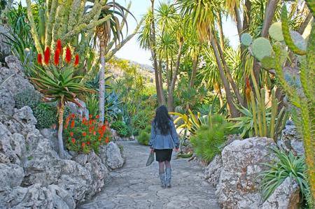 모나코를 발견하는 가장 좋은 방법은 자딘 엑소티크 (Jardin Exotique)를 방문하는 것입니다. 식물원은 절벽에 위치하고 도시를 내려다보고 있습니다.