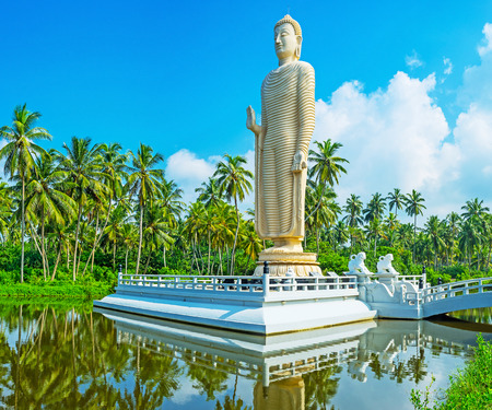 The famous Tsunami Memorial Statue, located in Peraliya village, next to Hikkaduwa, Sri Lanka. Stock Photo