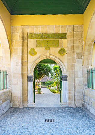 LARNACA, CYPRUS - AUGUST 4, 2014: The ancient complex of Umm Haram nowadays functions like museum, opened for everyone, on August 4 in Larnaca, Cyprus.