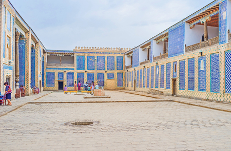 KHIVA, UZBEKISTAN, MAY 3, 2015: The Tosh Hovli (or Tash Hauli) Palace serves as museum and contains the masterpieces of islamic art and craft, on May 3 in Khiva. Editorial