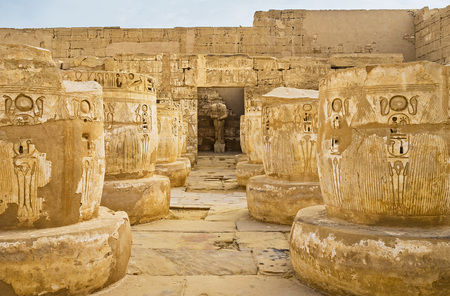 eligion: Visiting of Habu Temple is the excellent opportunity to walk among the ancient artifacts and feel the greatness of ancient Egypt, Luxor.