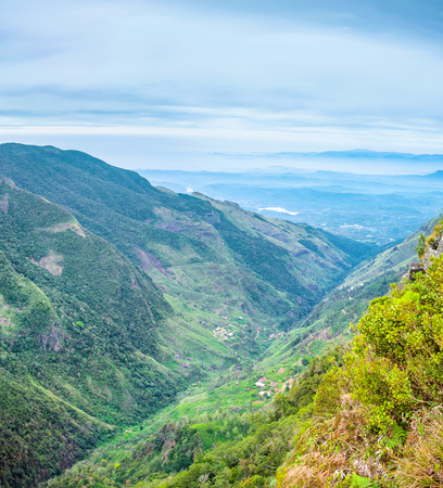 plains indian: The great view from the Worlds End is the biggest attraction of the Horton Plains, Sri Lanka