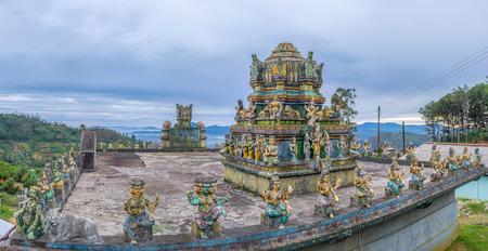 dome of hindu temple: Hakgala Kovil Hindu Temple located on the mountain slope among the agriculture lands of Nuwara Eliya suburb, Sri Lanka.