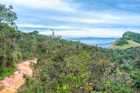 plains indian: The view over the forest of Horton Plains Park, Sri Lanka Stock Photo