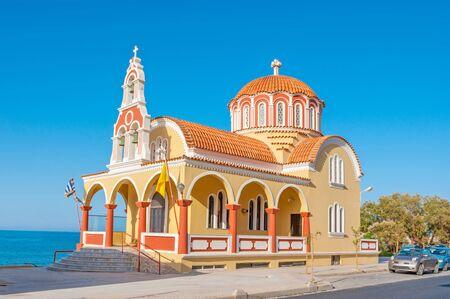Agia Foteini Church is a fine example of modern orthodox greek church, Rethymno, Greece