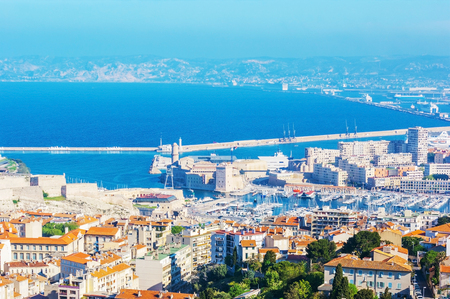 The best way to enjoy Marseille from the top is to visit Mount Carmel, famous for the Notre Dame de la Garde Cathedral and nice viewpoint, France.