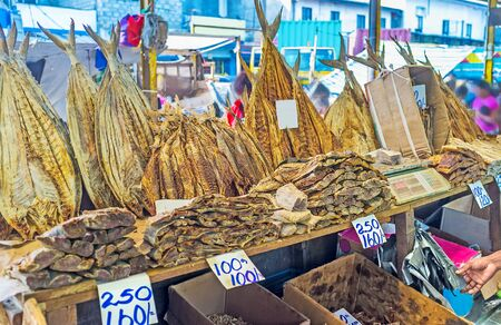 The Fose Market in Pettah is the nice place to choose and try local dried fish, the proud of Sri Lankan fishermen, Colombo.