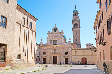 The San Giovanni Evangelista Church is the part of the Benedictine Convent, located in the same named square, opposite the apse of Duomo (Cathedral), Parma, Italy.