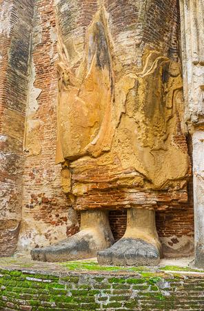 The Image House of Lankathilaka boasts the giant statue of Lord Buddha, Alahana Pirivena, Polonnaruwa, Sri Lanka.