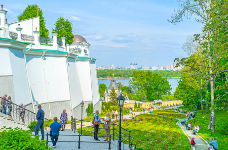 KIEV, UKRAINE - MAY 2, 2016: Kiev Pechersk Lavra is a must see place for all guests of the city, on May 2, in Kiev Editöryel