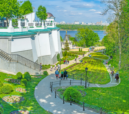 KIEV, UKRAINE - MAY 1, 2016: Kiev Pechersk Lavra becomes very crowded during christian holidays, on May 1, in Kiev