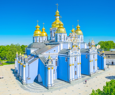 St Michael church is one of the most visit holy place among orthodox pilgrims, Kiev, Ukraine