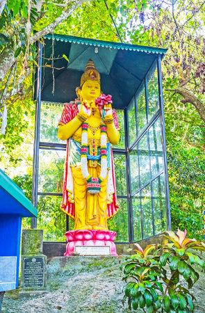 UNAWATUNA, SRI LANKA, DECEMBER 4, 2016: Maitreya Bodhisattva statue - the future Buddha, who will appear on Earth, Sri Viwekaramaya Temple, on December 4 in Unawatuna.