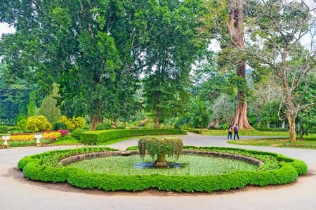Royal Botanical Garden is the most silent and cozy place in Kandy city, Sri Lanka Stock Photo